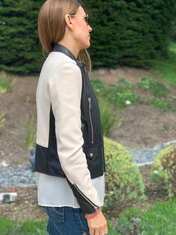 LTH JKT Black and White Jacket Small