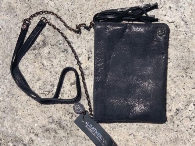 Leatherock Black Detailed Crossbody Purse