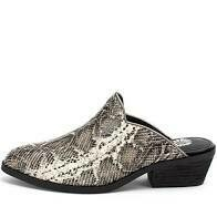 Yellow Box Lydia Snake Slip on Mule