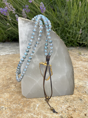 H Arrow Crystal with druzy