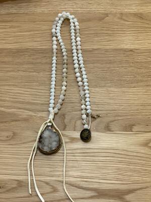 Tibetan Silver Crystal Gemstone Necklace