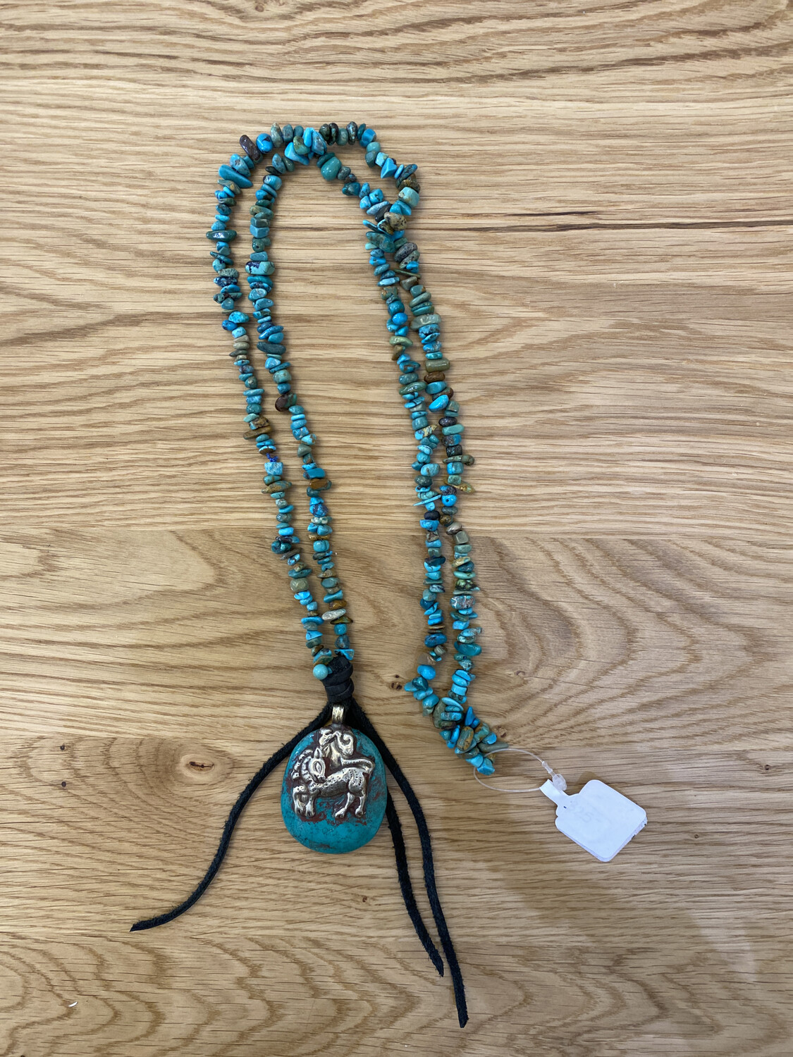 Turquoise Tibetan Silver Pendant Necklace