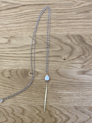 Rosary Pearl Strike Necklace