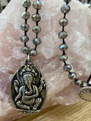 Ganesha Hand Beaded Long Necklace