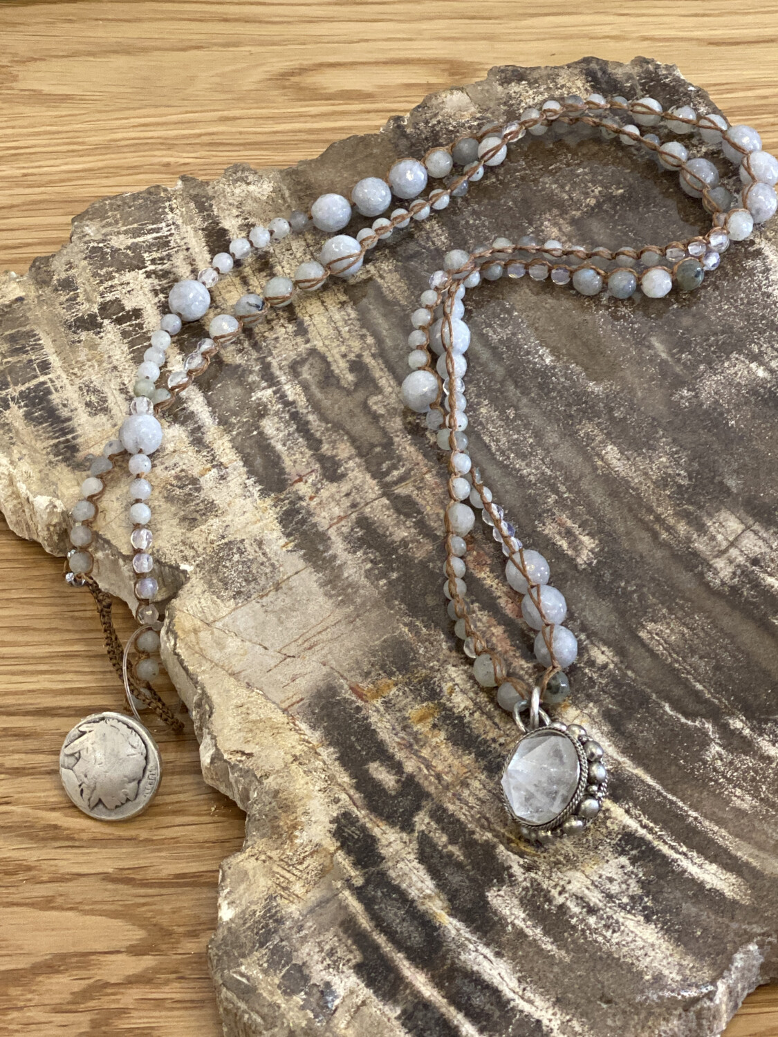 Agate Crystal Necklace