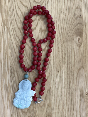 Jade Pendant Red Necklace