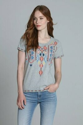 Driftwood Classic Grey T-Shirt Embroidered