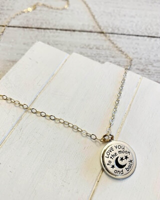 Healing Arts Moon and Sun Mirror Necklace
