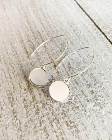 Healing Arts Sterling Drop Mirror Earrings