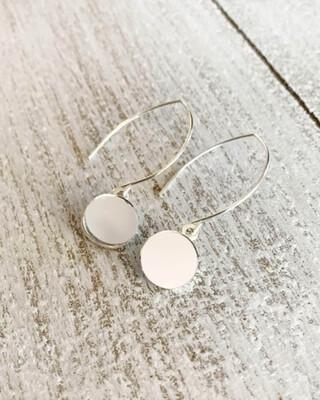 Healing Arts Sterling Drop Mirror Earrings