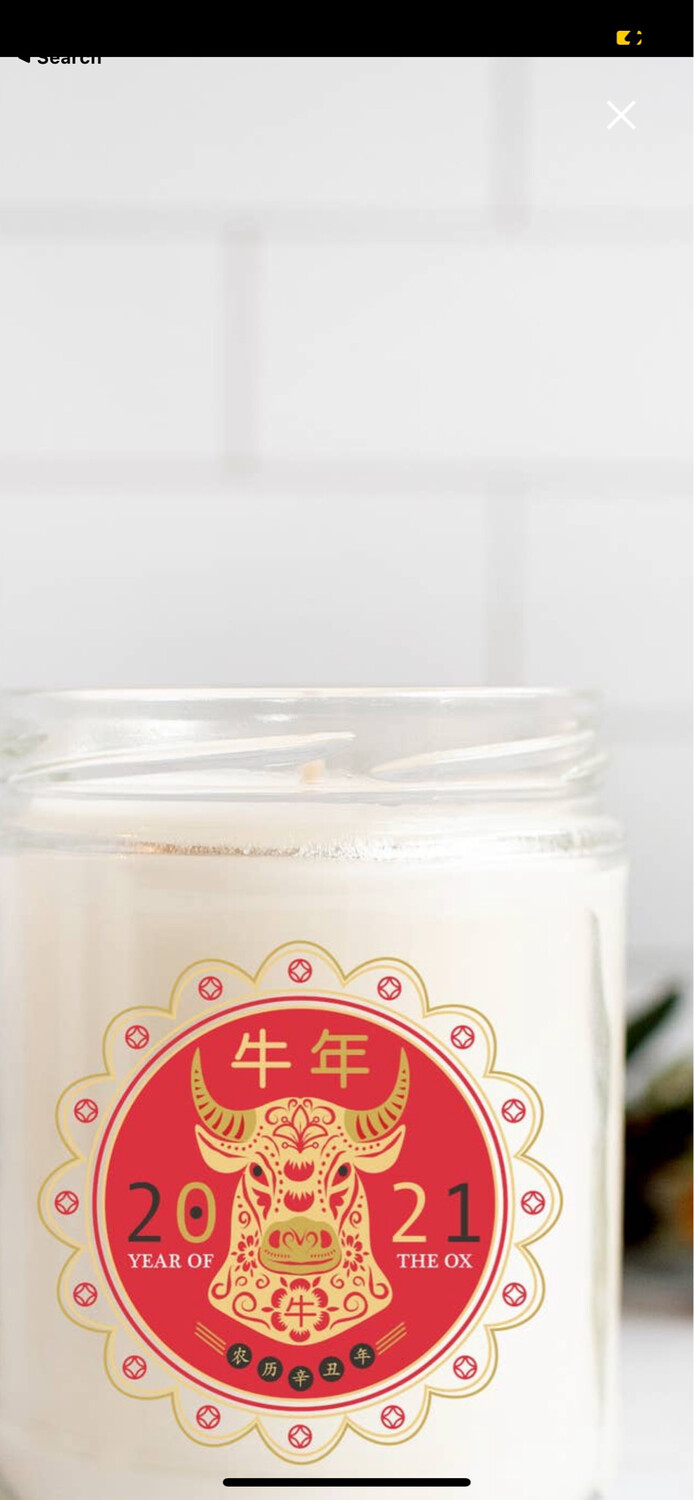 2021 Candle Year of the OX