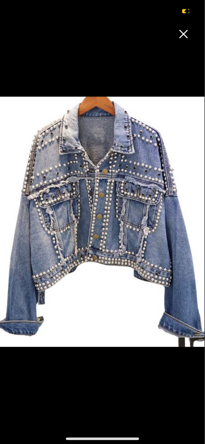 GLB Studded Denim Jean  Jacket O/S
