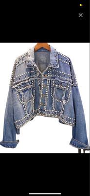 GLB Studded Denim Jean  Jacket O/S
