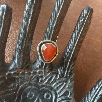 Sterling Silver Carnelian Ring 5.75