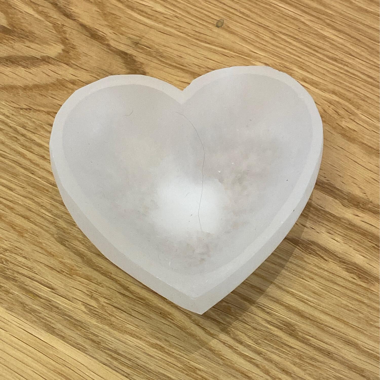 Celenite Heart Bowl