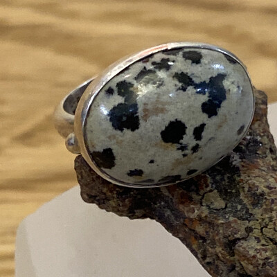 Dolomite Jasper Sterling Silver Ring, 6
