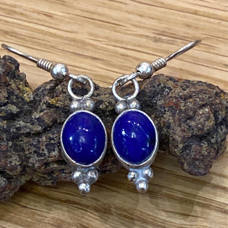 Sterling Silver Lapis Earrings
