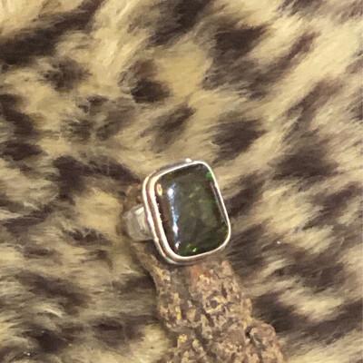 KI- Strl Ammolite Ring 8.75