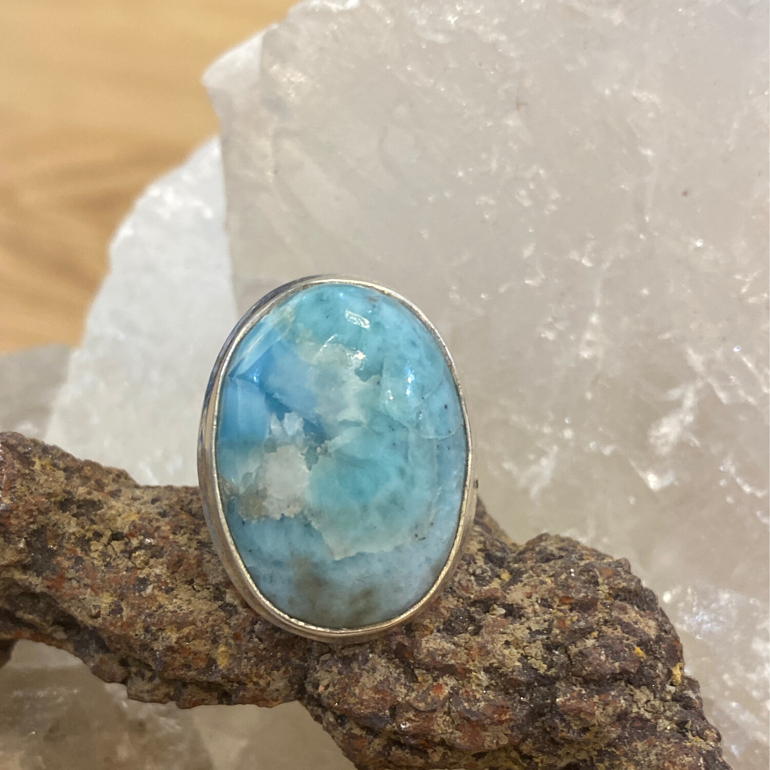 Larimar Sterling Silver Ring GS 7