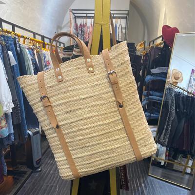 Natural Straw Convertible Bag