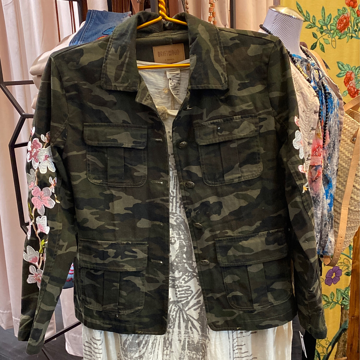 Driftwood Camo Embroidered Jacket XS