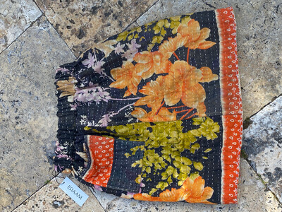 """ESIAAM """"The Amy"""" Kantha Reversible Skirt Small (2)"""