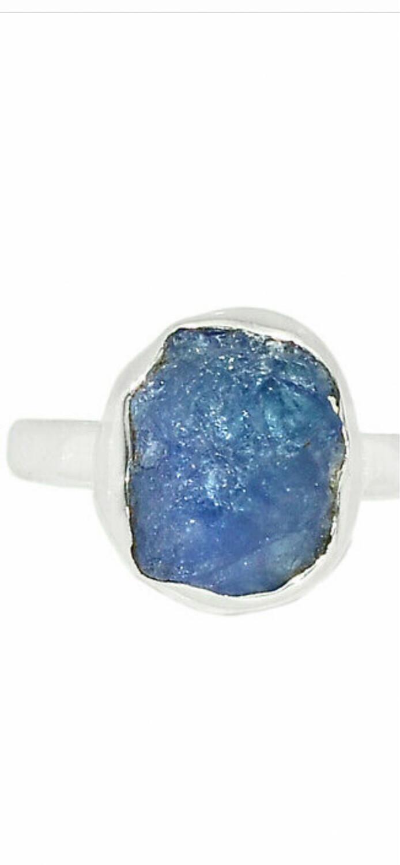 Tanzanite Sterling Silver Ring, 7.5
