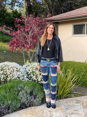 "ESIAAM ""The Nancy"" 32 x 32 Kantha Upcycled Denim Jeans"