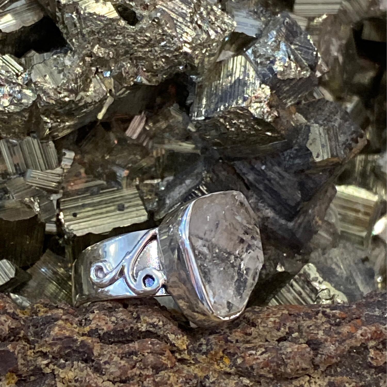 Herkimer Diamond 925 Shape Ring 8