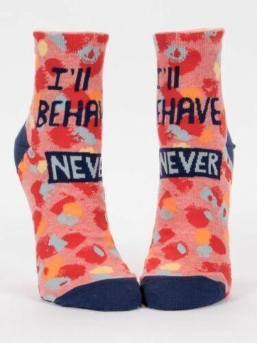 I'll Behave Never Blue-Q Women's Ankle Socks New Novelty Fierce Color Fashion