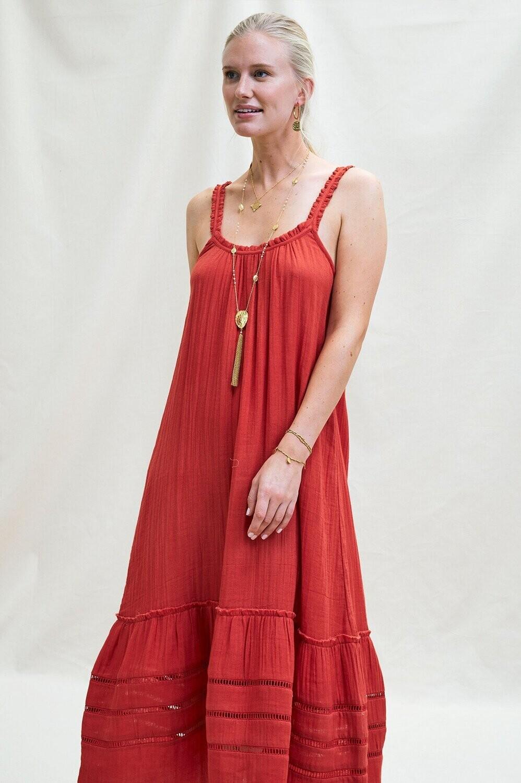 Aspiga Frankie Org Cotton Lace Maxi Dress