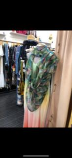 ESIAAM Multi-Pattern Silk Scarf Wrap, Oversized, Graphic