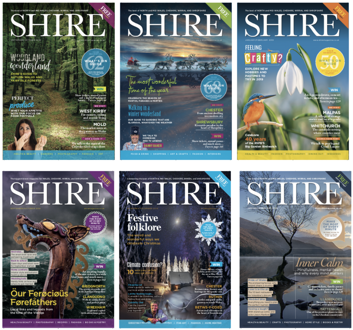 One year = 6 issues of Shire Magazine