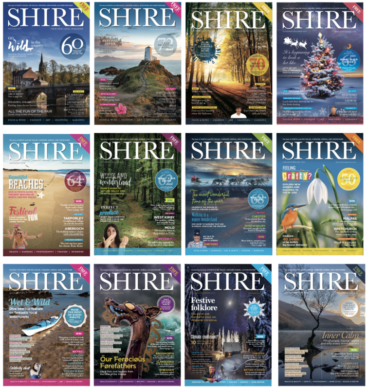 Two years = 12 issues of Shire Magazine