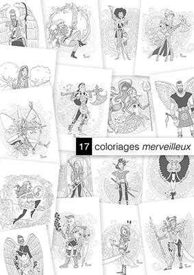 17 Coloriages Merveilleux  Par Pacco