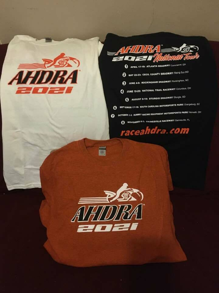 2021 AHDRA SCHEDULE T-SHIRT WHITE