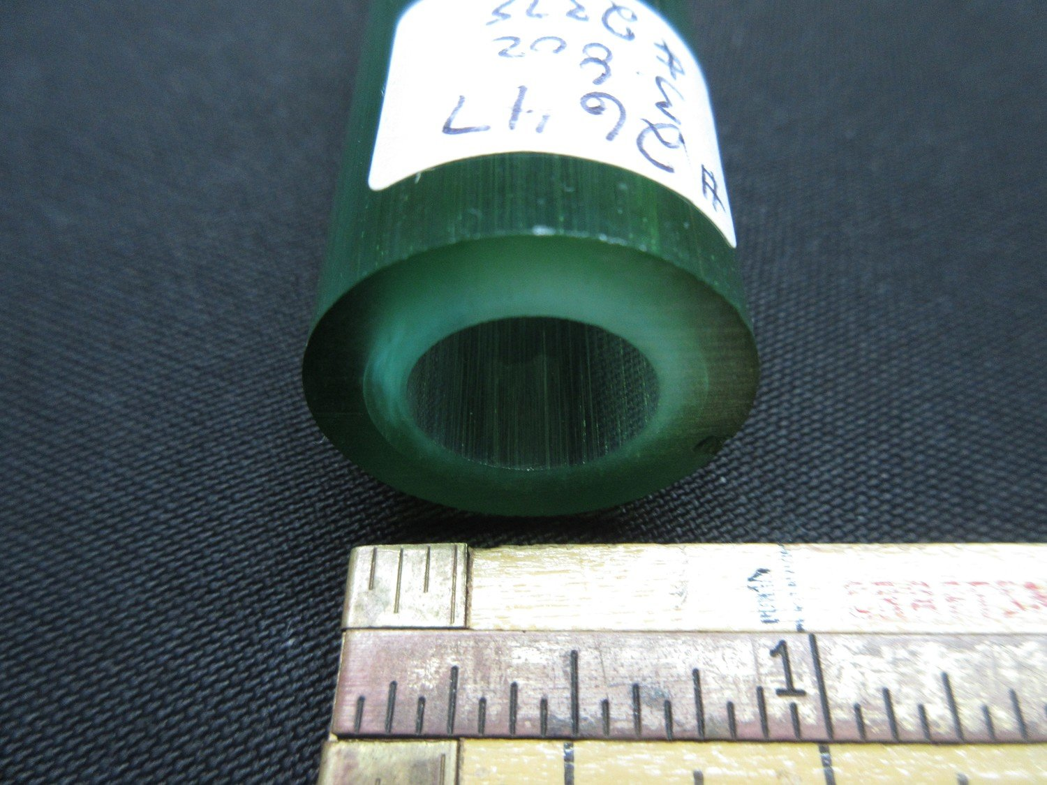 Green Stardust over Slyrm Double Layer Boro Tubing (#2647 3.8oz  SECONDS)