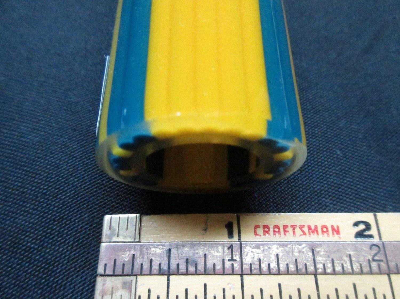 Yellow Crayon and Peacock Vac Stack Lined Boro Tubing w/ Illuminati Stringers ODD (#5000 7.7oz)