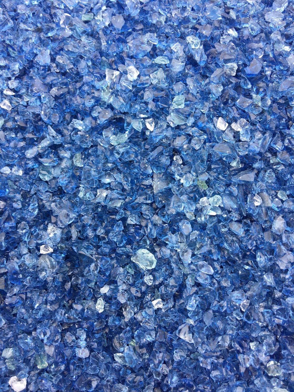 Abyss Dark Blue UV Boro Frit (4 ounces)