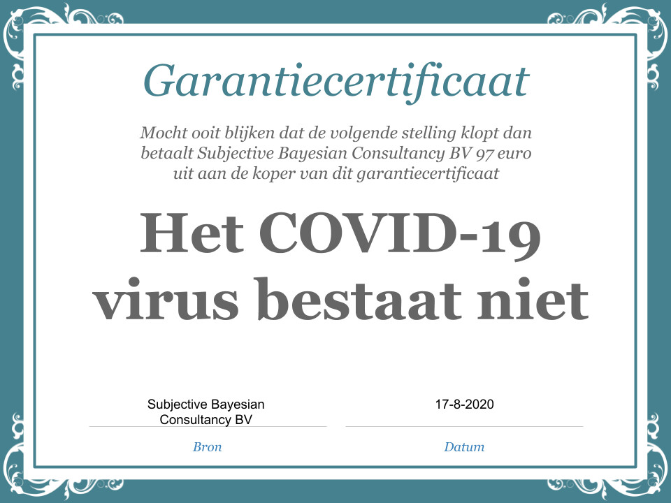 Stelling: Covid-19 virus bestaat echt