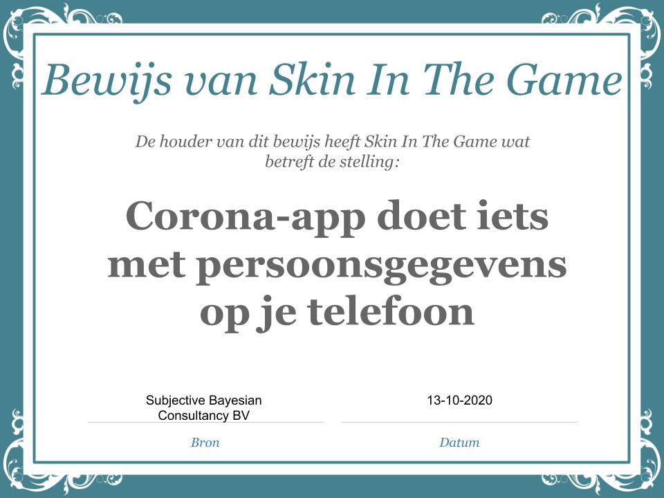 Stelling: Corona-app doet niets met persoonsgegevens op je telefoon