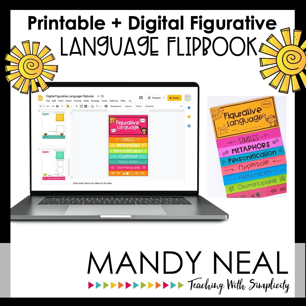 Printable + Digital Figurative Language Flipbook