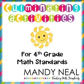 Fourth Grade End of the Year Math Activities