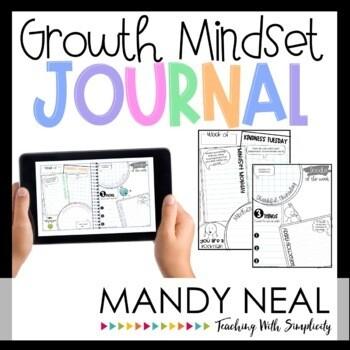 Growth Mindset Journal Activities   Digital + Printable