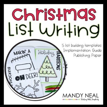 Christmas Writing Prompts| Writing Center| Writing Workshop Activities