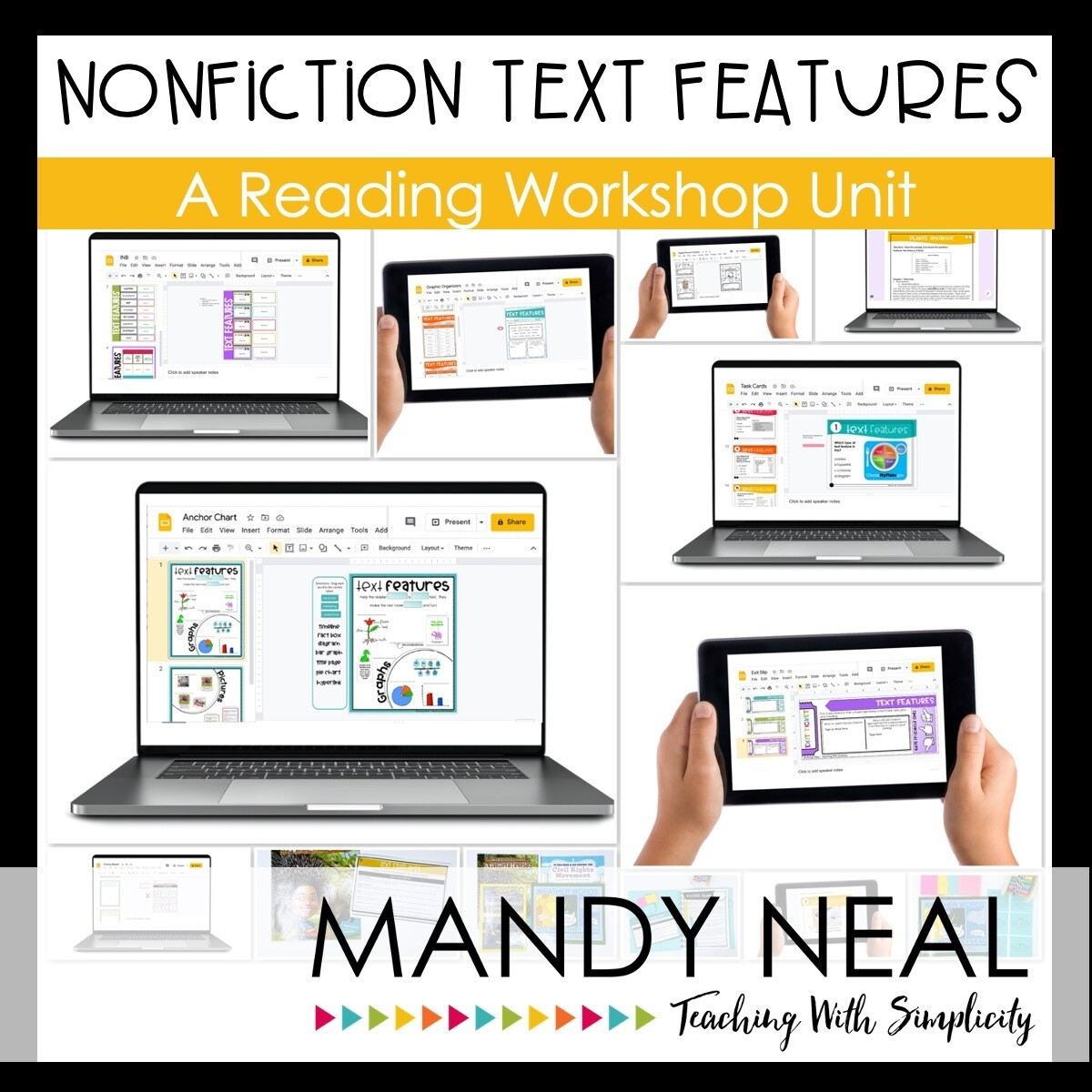 Digital Nonfiction Text Features Reading Workshop Unit