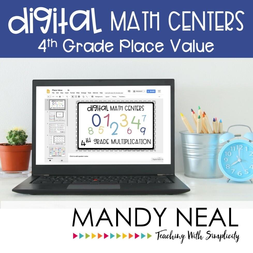 Fourth Grade Digital Math Centers Place Value