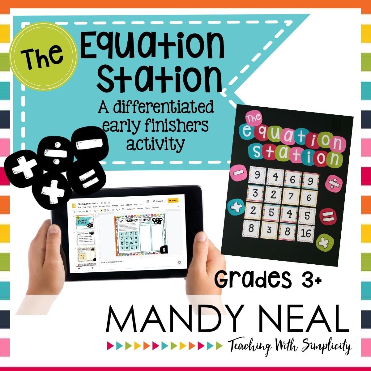 The Equation Station   Print + Digital