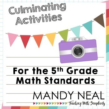 Fifth Grade End of the Year Math Activities