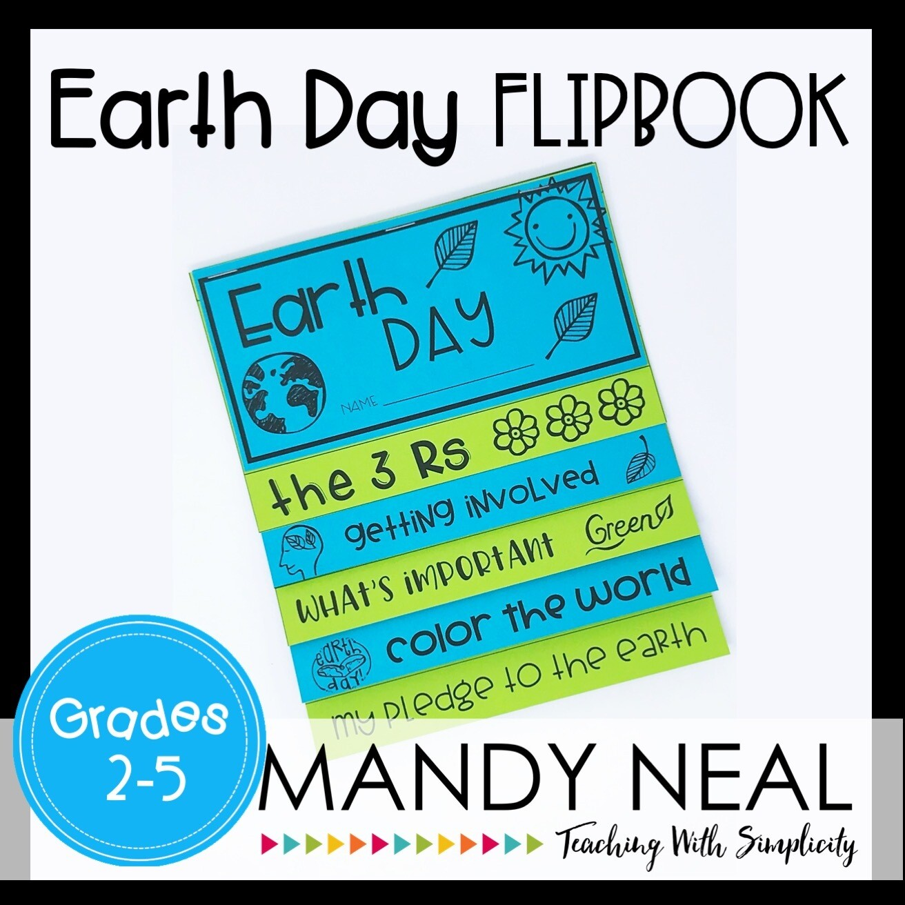 Printable Earth Day Flip Book